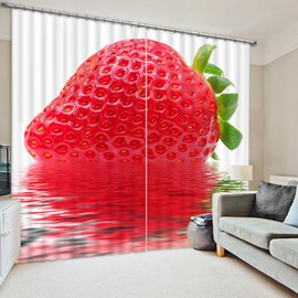 Delicious Fresh Strawberry Print 3D Blackout Curtain