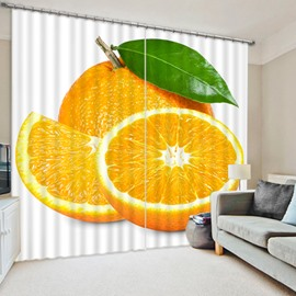 Delicious Fresh Orange Print 3D Blackout Curtain