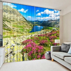 Charming Nature Scenery Printing Living Room and Bedroom 3D Blackout Curtain