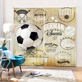 Inspiring Soccer Printing Polyester 3D Curtain