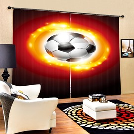 Sparkling Soccer Printing 3D Curtain