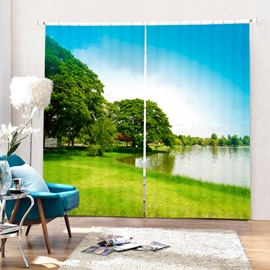 Pretty Quiet Lake Scenes Printing 3D Curtain
