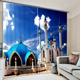 Spectacular Architecture Mosque in Russia Printing 3D Curtain