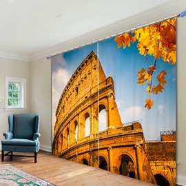 Wonderful Roman Colosseum 3D Printed Polyester Curtain