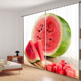 Sweetly Watermelon 3D Printing Polyester Curtain
