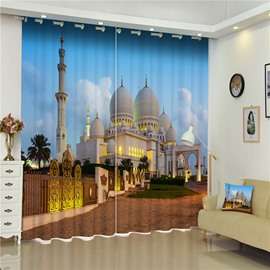 3D Resplendent and Glorious Castles Printed Noble and Royal Buildings Custom Curtain