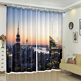 Modern Style City's Morning After Dawn 3D Curtain Blackout