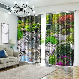 Dream Garden Waterfall Scenery Curtain Products Polyester Curtain