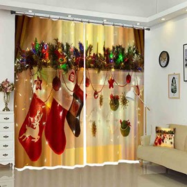 Socks Hang in Lights Vivid Decoration for Christmas Curtain