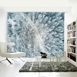 3D Waterproof Nature Forest Pattern Polyester Curtain