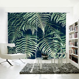 3D Mildew Resistant Plant Pattern Digital Printing Curtains