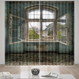 Beddinginn Blackout 3D Window Modern Curtain