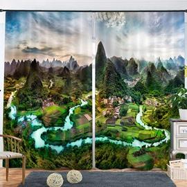 Beddinginn Blackout Beautiful Scenery Modern Curtain