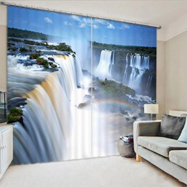 Beddinginn Creative Blackout 3D Rainbow and Waterfall Curtain