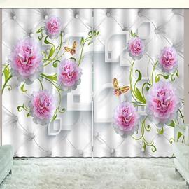 Beddinginn Blackout Creative Decoration Floral Pattern Curtains
