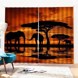 Beddinginn Night Scenery European Curtain Ultraviolet-Proof Curtains/Window Screens