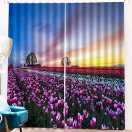 Beddinginn 3D Pastoral Sky Blackout Curtain Curtains/Window Screens