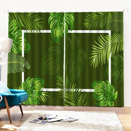 Beddinginn 3D Leaves Creative Ultraviolet-Proof Curtains/Window Screens