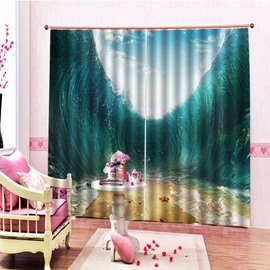 Beddinginn Ultraviolet-Proof 3D Modern Sea Curtains/Window Screens