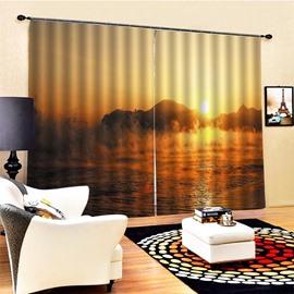 Beddinginn Modern Blackout Landscape Curtain Curtains/Window Screens