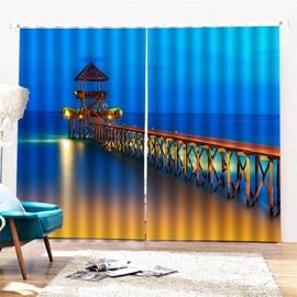 Beddinginn Night Scenery Modern Decoration Curtain Curtains/Window Screens