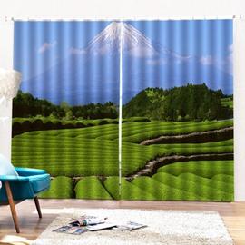 Beddinginn Pastoral Landscape Curtain Blackout Curtains/Window Screens