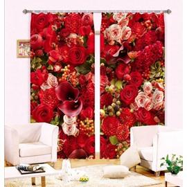 Glamorous Various Flowers 3D Curtain