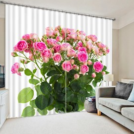 Vivid A Bunch of Pink Roses Print 3D Blackout Curtain