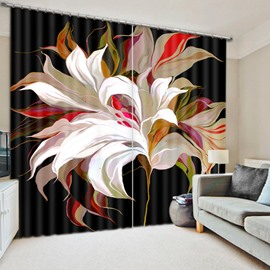 Creative Colored Flower Printed 3D Polyester Curtain