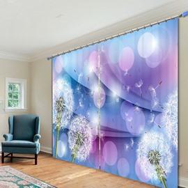 Designer Dandelion Polyester Printing 3D Curtain