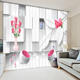 Modern Living Room Decoration 3D Printed Polyester Curtain