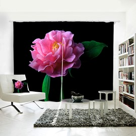 3D Waterproof Red Floral Spring Nature Landscape Printing Curtain