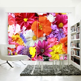 3D Blackout Beatiful Floral Printing Curtain Online with Environment-friendly Material and Pollution-free Printing Technology Ever Fading Cracking Peeling or Flaking