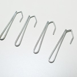 Stainless Steel S-Shaped Pleat Curtain Hooks