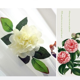 Korean Style Lovely White Flower Decorative Curtain Tiebacks