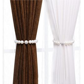 Pearl Curtain Tieback, Magnetic Clips Holdback Buckle Tiebacks 1 Pair