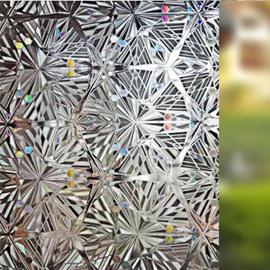 No Glue 3D Static Decorative Privacy Window Films for Glass