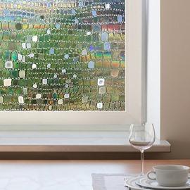 3D No Glue Static Decorative Privacy Window Films for Glass