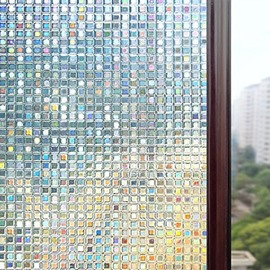3D Window Films Laser Colour Static Non-Adhesive Decorative Film