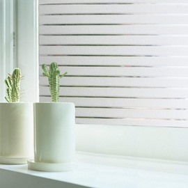 Stripe Pattern Window Films Static Non-Adhesive Decorative Film