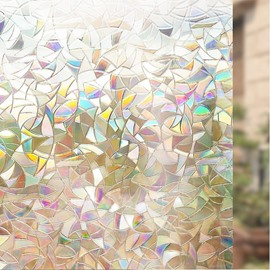 3D Window Film Laser Static Decorative Privacy No Glue for Glass Anti Uv