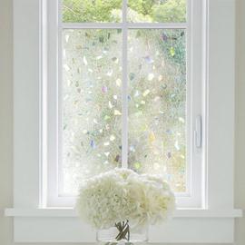 3D Laser Static Privacy Window Films No Glue for Decorative Glass Anti Uv
