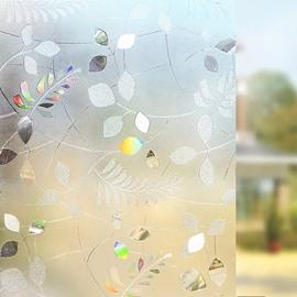 Colorful Leaves Static Decorative Privacy No Glue Window Film