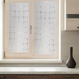 Plaid Window Film Static Decorative Privacy No Glue