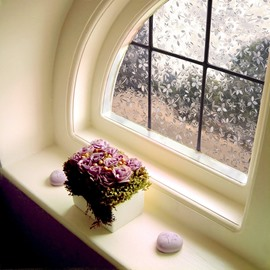 Colorful Flower Window Film No-glue Changing by Sunshine