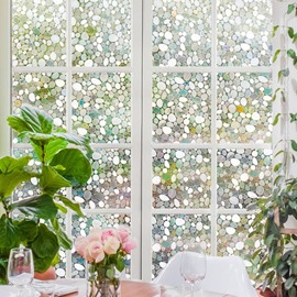 Colorful Stones Window Film No-glue Changing by Sunshine