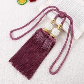 1 Pair Paired Lantern Hanging Ball Tassels Curtains Tieback