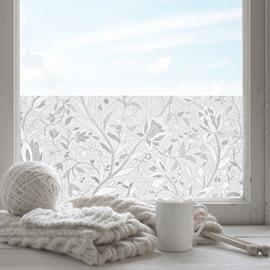 3D Rose Decorative Privacy No-glue Adiabatic Window Film Static Sticker