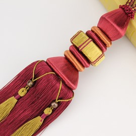 European Delicate Tassels Curtain Tie Backs Valance Decoration No Fading 1 Pair