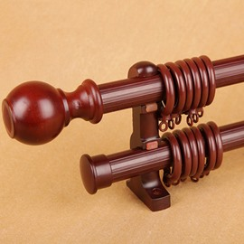 Pyinkado Double Window Curtain Rod Set